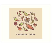 Cambrian Critters Art Print