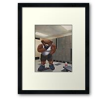 Bodybuilder Teddy - the Shrinkage Framed Print