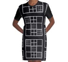 Squared Square Carrés Geometric design Graphic T-Shirt Dress