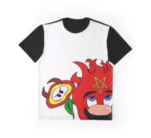 satan mario flower power Graphic T-Shirt