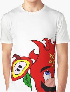 satan mario flower power Graphic T-Shirt