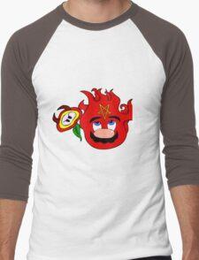 satan mario flower power Men's Baseball ¾ T-Shirt