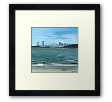 Boston from Georges Island Framed Print