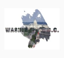 Washington, D.C. Grunge Logo One Piece - Long Sleeve