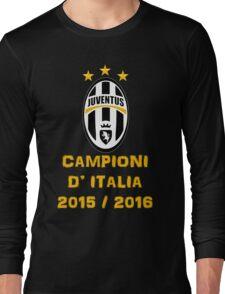 Juventus Campione d'Italia 2015 2016 Long Sleeve T-Shirt