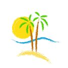 Paradise Island Watercolor by T-ShirtsGifts