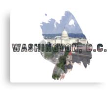 Washington, D.C. Grunge Logo Canvas Print