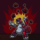 Groudon Used Eruption Pokemon Design Art by Jorden Tually