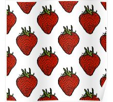 Strawberry pattern Poster