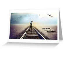 Lone Man Standing Greeting Card