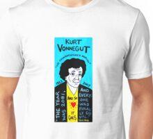 Kurt Vonnegut Pop Folk Art Unisex T-Shirt