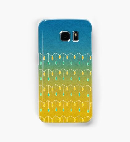 Droplets, Blue and Yellow Samsung Galaxy Case/Skin