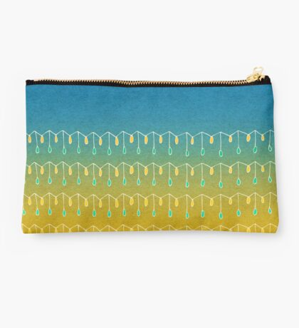 Droplets, Blue and Yellow Studio Pouch