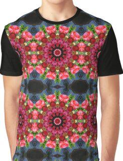 Red blossoms, Flower Mandala Graphic T-Shirt