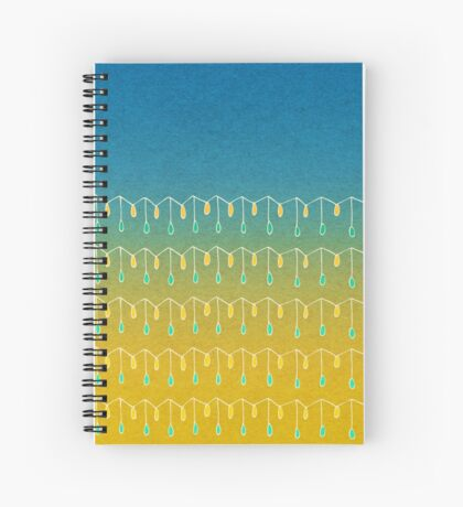 Droplets, Blue and Yellow Spiral Notebook