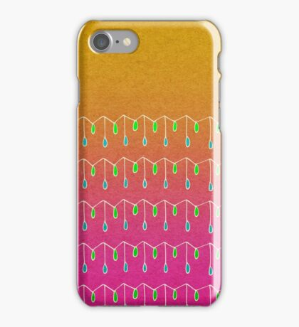 Droplets, Orange and Pink iPhone Case/Skin