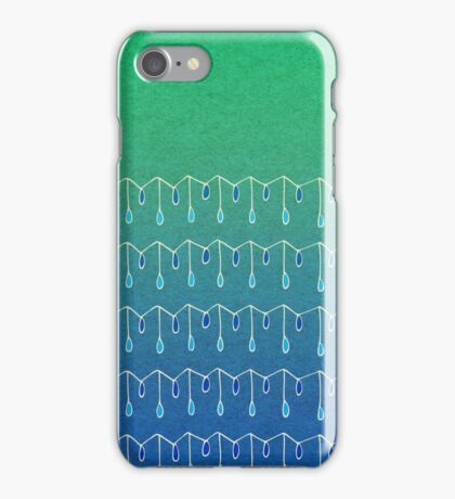 Droplets, Green and Blue iPhone Case/Skin