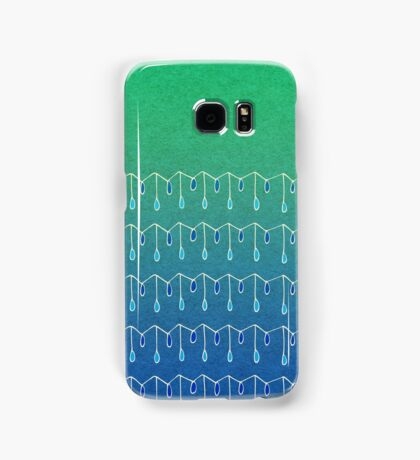 Droplets, Green and Blue Samsung Galaxy Case/Skin