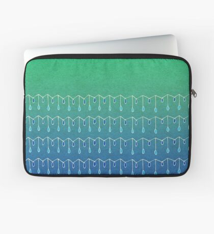 Droplets, Green and Blue Laptop Sleeve