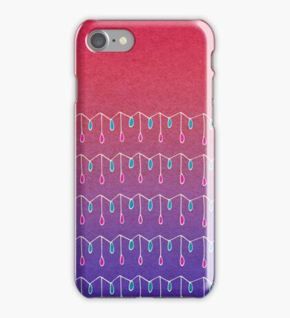 Droplets, Pink and Purple iPhone Case/Skin