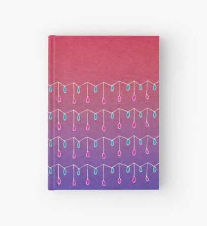 Droplets, Pink and Purple Hardcover Journal