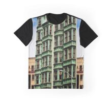 Urban Living in San Francisco - Columbus Tower Graphic T-Shirt