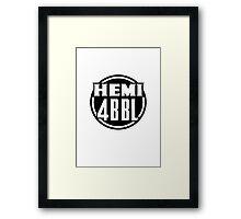 Hemi Decal Design Framed Print