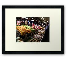 Pikes Place Market Fruit and Vegetable stands...... Framed Print