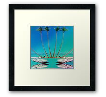 Hologram Plaza Framed Print