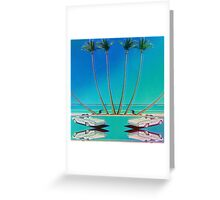 Hologram Plaza Greeting Card