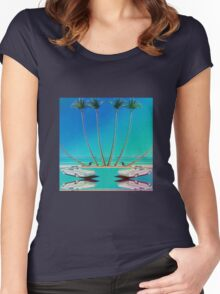 Hologram Plaza Women's Fitted Scoop T-Shirt