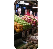 Pikes Place Market Fruit and Vegetable stands...... iPhone Case/Skin