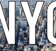 New York City Birds Eye View Sticker