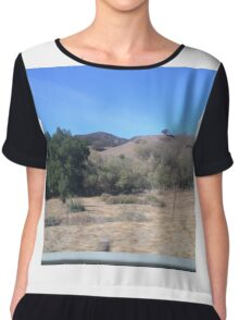 California Landscape Chiffon Top