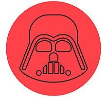 Darth Vader minimalist Photographic Print