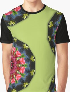 Red blossoms, Floral mandala-style  Graphic T-Shirt