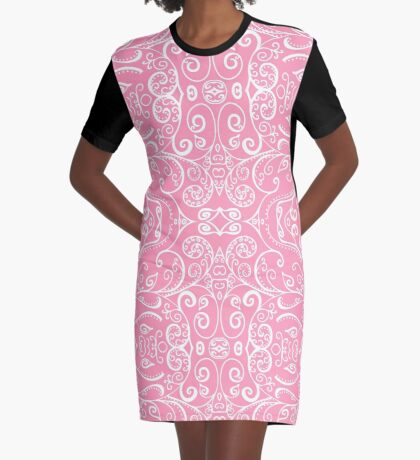 Silent Era, Pink Graphic T-Shirt Dress