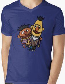 Bert And Ernie Mens V-Neck T-Shirt