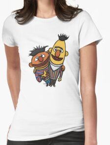 Bert And Ernie Womens Fitted T-Shirt