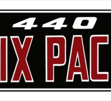 440 Six Pack Design Sticker