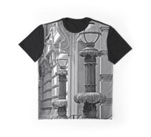 B&W - Decorative Lamp Posts - San Francisco Graphic T-Shirt
