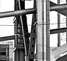 B&W - The Bay Bridge & Apartments San Francisco Sticker