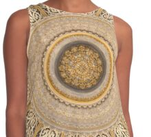 Dreamy Islamic Ceiling Rose in Grey and Gold Contrast Tank