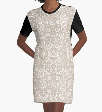 Silent Era, Sand Graphic T-Shirt Dress