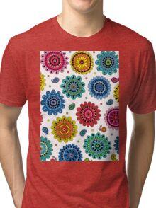 Flowers of Desire white Tri-blend T-Shirt