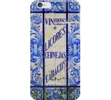 Wines, Spirits, Beers and Tobaccos azulejo iPhone Case/Skin