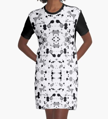 Marble Tears, White Graphic T-Shirt Dress