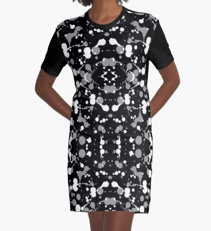 Marble Tears, Black Graphic T-Shirt Dress