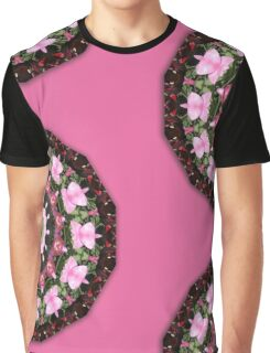 Pink blossoms, Flower Mandala Graphic T-Shirt