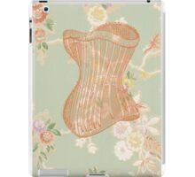 Victorian Green Peach Floral Corset iPad Case/Skin